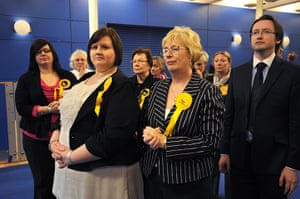Local elections: Disconsolate Liberal Democrat supporters at Sheffield local election count