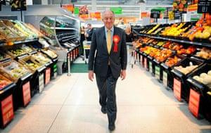Ken Livingstone: London Mayoral candidate Ken Livingstone visits a supermarket