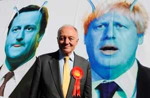 Ken Livingstone: Ken Livingstone at the launch of his poster campaign
