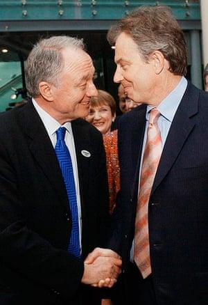 Ken Livingstone: Prime Minister Tony Blair with Mayor Ken Livingstone