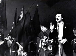 Ken Livingstone: Ken Livingstone at Brits Out Of Ireland demonstration