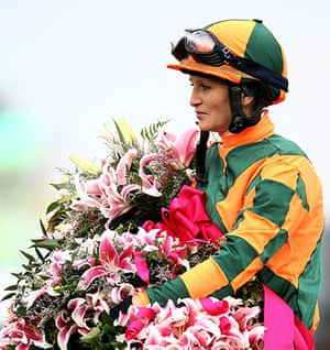 Kentucky Derby: Rosie Napravnik sits atop Believe You Can with the Lilly's