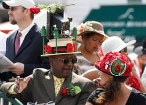 Kentucky Derby: Eric Williams wears an antique camera on his hat