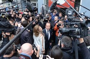 European elections: France's Socialist Party candidate Francois Hollande