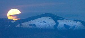 Supermoon: Cultus Mountain Sunset Road near Chuckanut Drive Skagit County, Washington
