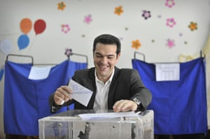 Elections: Alexis Tsipras, casts his vote for Greece's general elections