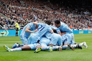 sport7: NEWCASTLE UNITED V MANCHESTER CITY FC BARCLAYS PREMIER LEAGUE