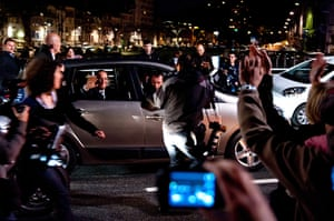 Francois Hollande wins: French President-Elect Francois Hollande leaves Tulle for Paris