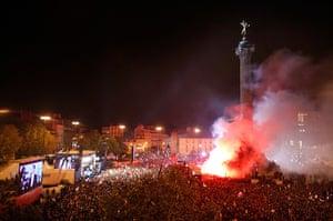 Francois Hollande wins: Francois Hollande supporters at Place de la Bastille after victory