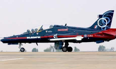 A BAE systems HAWK advanced jet trainer