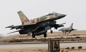 Israeli fighter plane takes off from southern Israel