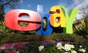 A sign outside eBay headquarters in San Jose