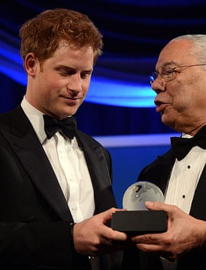 Picture desk live: Prince Harry receives the Distinguished Humanitarian Leadership Award