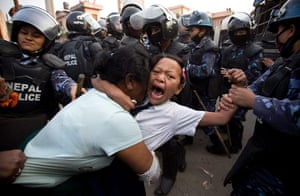 Picture desk live: Violent clashes with police over squatter evictions in Nepal