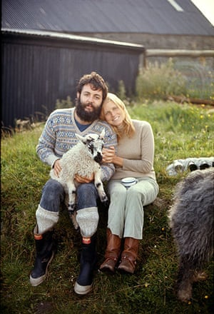RAM: Paul and Linda with a lamb on the farm