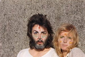 RAM: Paul and Linda with painted faces
