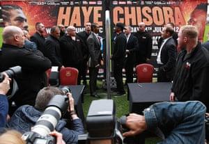 boxing3: Frank Warren Announces Haye Vs Chisora Fight At West Ham United FC