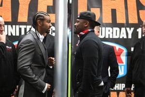 boxing3: Boxing - David Haye and Dereck Chisora - Press Conference - Upton Park