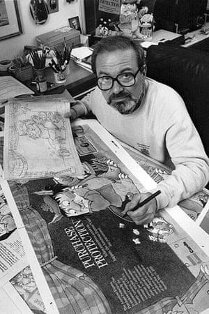 Maurice Sendak: Sendak checks proofs of art at his home in Conneticut, 1988