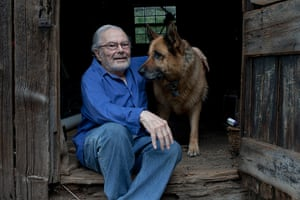 Maurice Sendak: Sendak with his dog at his home in Connecticut