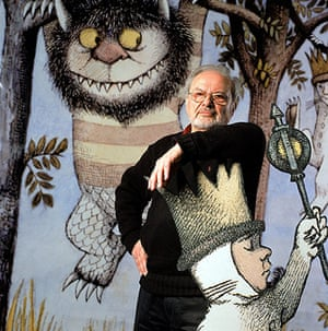 Maurice Sendak: Maurice Sendak with Max from Where The Wild Things Are
