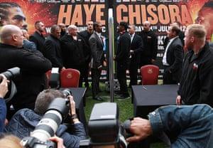 Picture desk live: Frank Warren Announces Haye Vs Chisora Fight At West Ham United FC