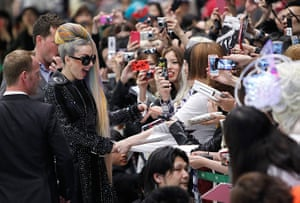 Picture desk live: Singer Lady Gaga meets fans upon her arrival at Narita, Japan