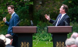 Clegg and Cameron in the rose garden