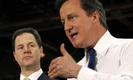 Nick Clegg and David Cameron in Basildon
