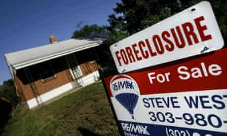 A house in Denver lies empty and under foreclosure as the sub-prime crisis hits the US in 2007