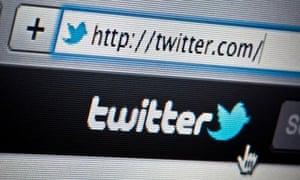 The Twitter website