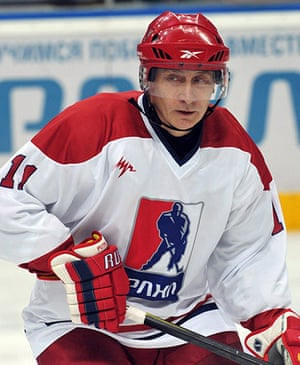 putin: Putin playes with team of the Russian Amateur Ice Hockey League