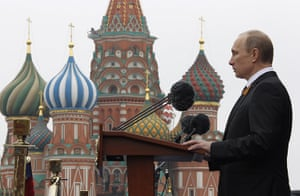 Victory Day in Russia: Russia's President Vladimir Putin speaks in Red Square, Moscow