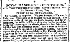 Royal Manchester Institution 1852 headline