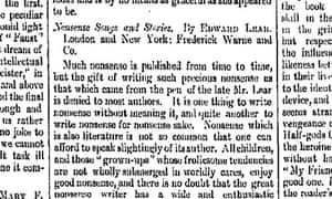 1888 Guardian review of Lear poetry
