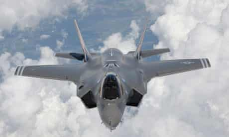 A joint strike fighter soars over Edwards air force base in California