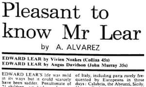 Observer profile of Edward Lear 1968