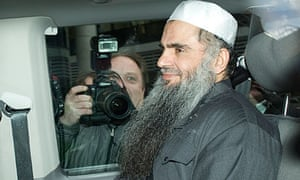 Abu Qatada after being re-arrested on 17 April 2012