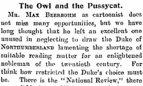 1921 Guardian leader Owl and the Pussycat
