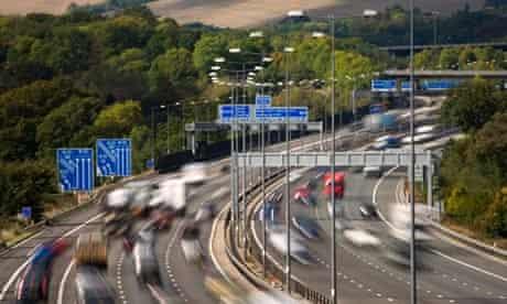 M25 Motorway Junction 7 (M23) near Godstone Surrey England