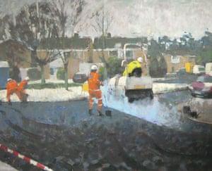 Readers' art: Britain: Steamroller