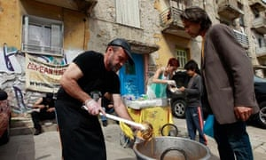 Soup kitchen in Athens Greece