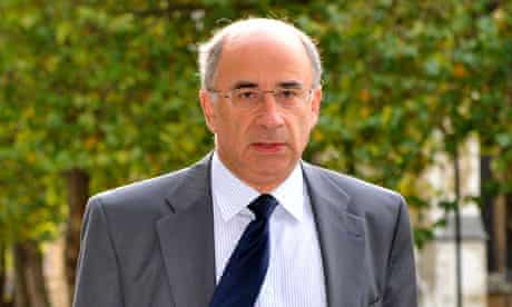 Lord Leveson Arrives for the Leveson Inqiry Seminars at the QEII Center