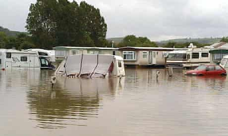 Flooding in west Wales