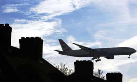 An aircraft makes its final approach to Heathrow