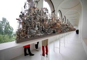 dOCUMENTA (13): The artwork Leaves Of Grass, 2012 by artist Geoffrey Farmer