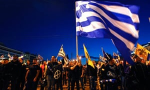 Supporters of Greek far-right Golden Dawn party