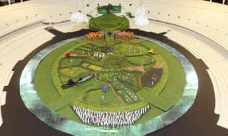 A handout picture showing plans for the London 2012 Olympic Games Opening Ceremony