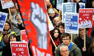 Jarrow Marchers March for Jobs in London