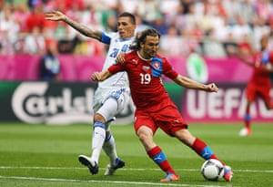 Greece v Czech: Petr Jiracek scores